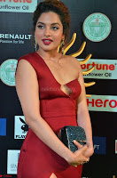 Natasha Nebasha in a Leg Slit Sleeveless Stunning Red Gown at IIFA Utsavam Awards 2017 011.JPG