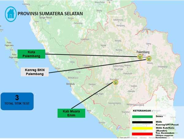 Lokasi Tes Cat BKN Propinsi Sumatera Selatan