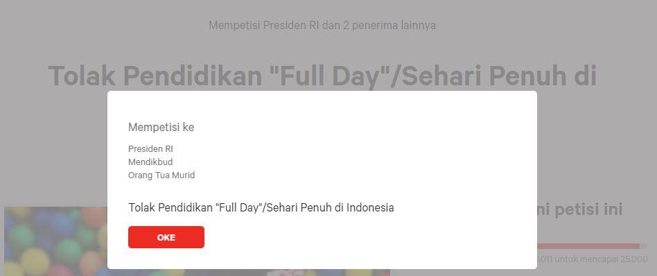 """Petisi Penolakan Pendidikan """"Full Day"""" atau Sehari Penuh di Indonesia"""