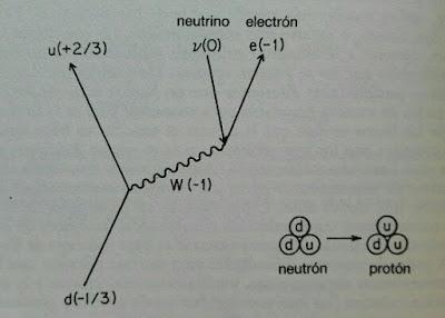 Diagrama de Feynman de la desintegracion beta