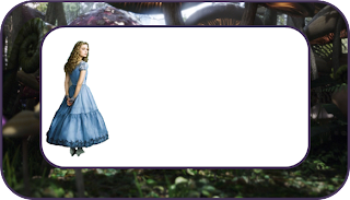 Alice in Wonderland Tim Burton Style Free Printable  Labels.