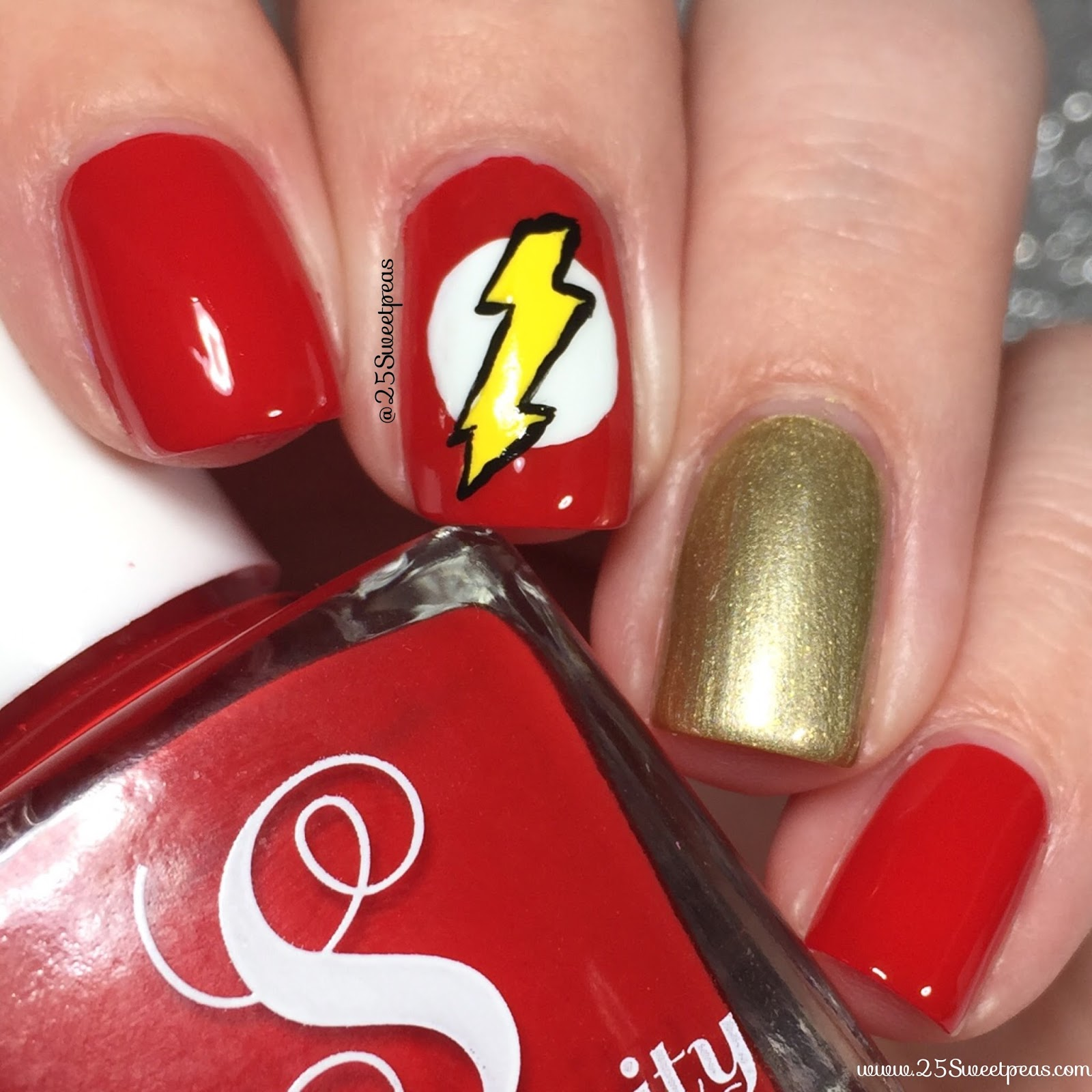 The flash inspired nail art part one 25 sweetpeas so who else here watches the show i watch it with my brother who just loves flash so its fun we watch it along with arrow legend of tomorrow prinsesfo Choice Image