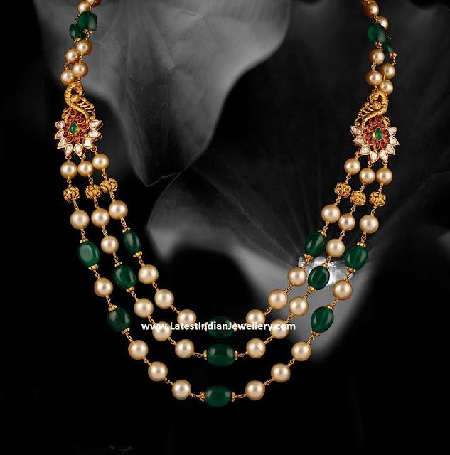 Peacock Motifs Beads Mala
