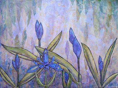 painting, iris, Robin Baratta