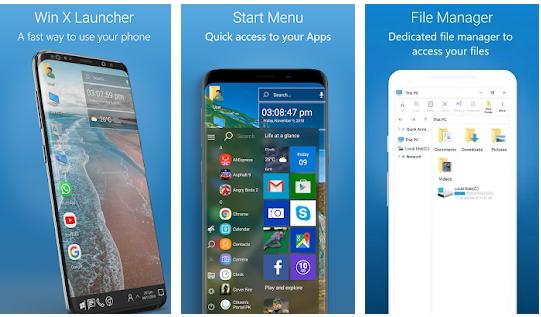 Launcher que vai deixa seu celular com cara do windows 10