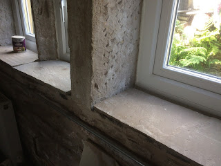 How to mix mortar for bedding down stone for windowsills