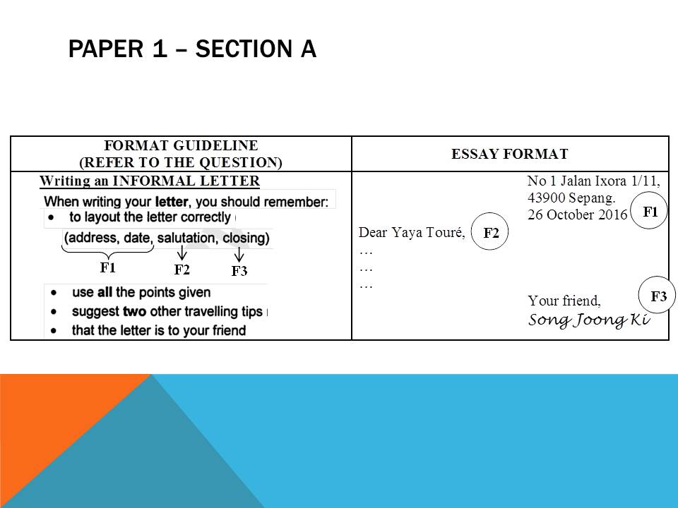 spm english paper 1 directed writing article Directed writing you will be required  1 letters - formal informal 2 report - for a survey, for a school magazine/newsletter 3 articles  essential english spm.