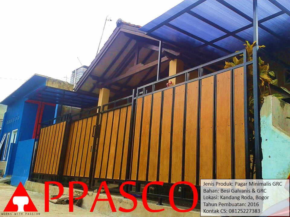 Pagar Minimalis GRC di Kandang Roda Bogor