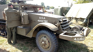 D-Day Reenactment at Conneaut Ohio, US Army M3 Half-Track
