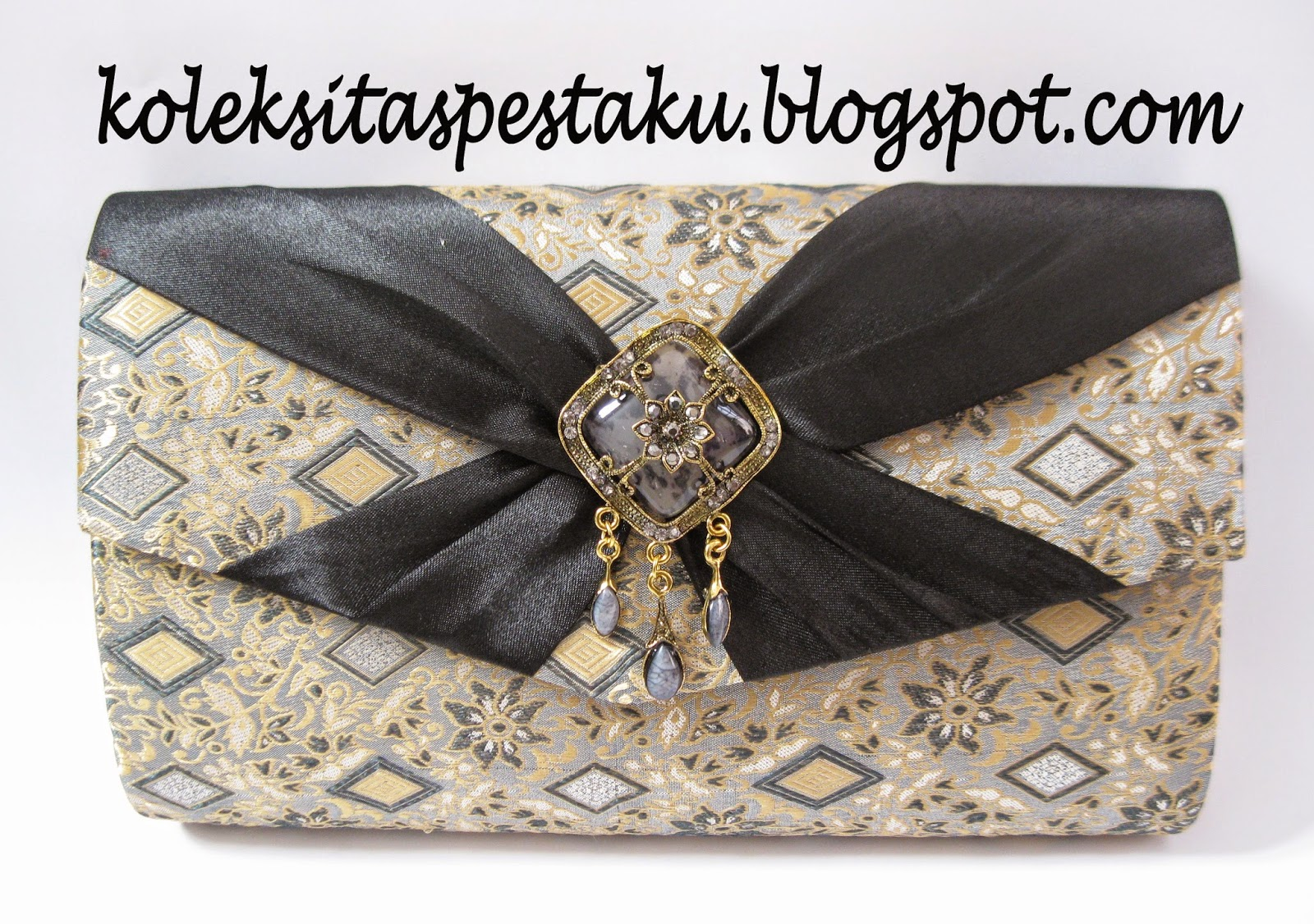 Tas Pesta Sari India Cantik. TAS PESTA - CLUTCH BAG KODE G7 JUMBO. SARI  INDIA HITAM BROSS KONCIR 3c100fd229