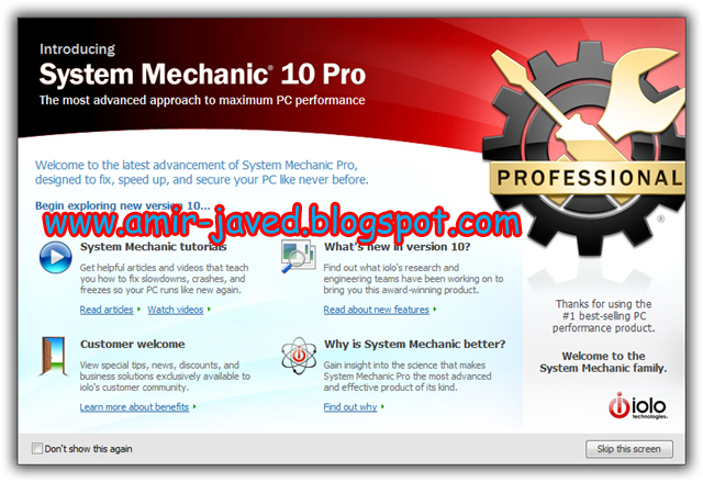 Iolo System Mechanic Professional Pro Serial Key 10 7 6 9