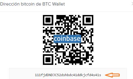 ¿Qué es una dirección de bitcoin en coinbase?