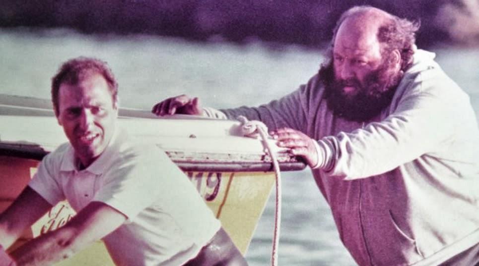 Capitan Van Gelderen y el marinero Raul Martino en los ´70