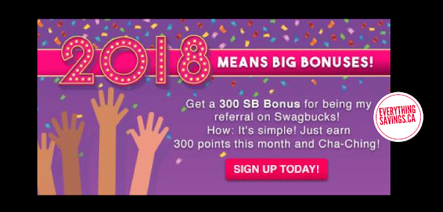 Get $3 Bonus when you sign up for Swagbucks during January