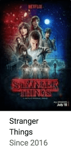 Stranger Thing Best TV Series