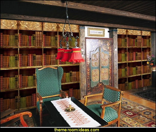 Library Book shelf Mural wallpaper moroccan style library decorating   book themed decor -Moroccan decorating ideas - Moroccan decor - Moroccan furniture - decorating Moroccan style - Moroccan themed bedroom decorating ideas - Exotic theme decorating - Sultans Palace - harem style bedrooms  Arabian nights Moroccan bedroom furniture - moroccan wall decoration ideas