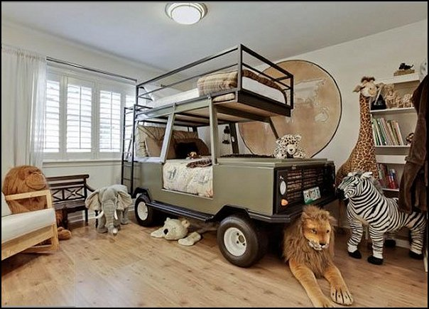 Decorating theme bedrooms maries manor jeep bed for Forest themed bedroom ideas