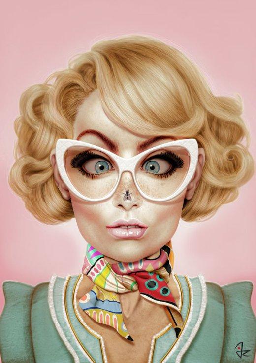 Giulio Rossi ilustrações pinturas digitais mulheres fashion surreais