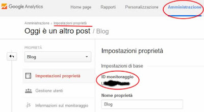 Come inserire analytics su blogger