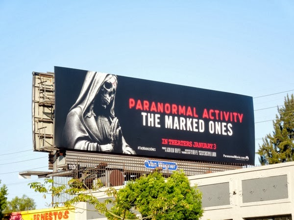 Paranormal Activity The Marked Ones movie billboard