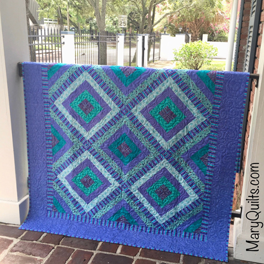 Sharon Inspired HeartStrings Quilt Free Pattern designed by Mary Johnson of MaryQuilts