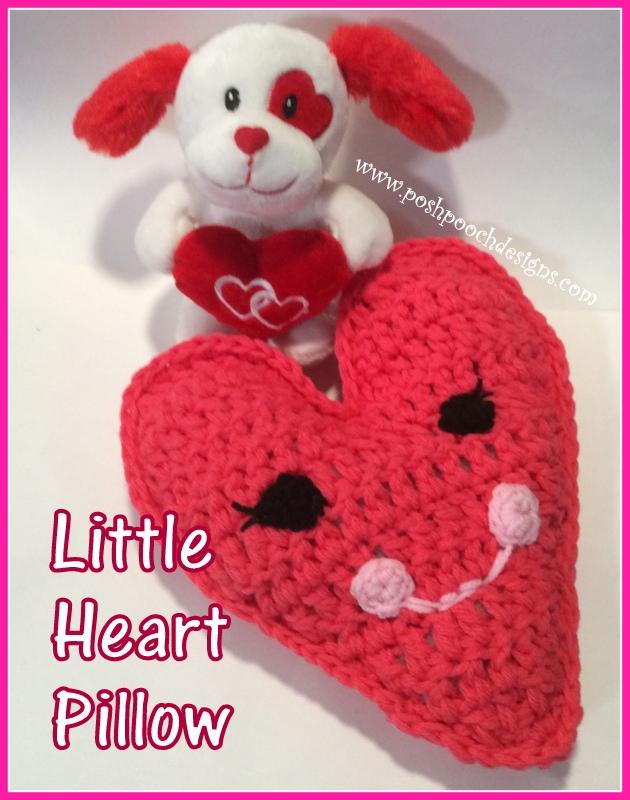 Posh Pooch Designs Dog Clothes Little Heart Pillow Crochet Pattern