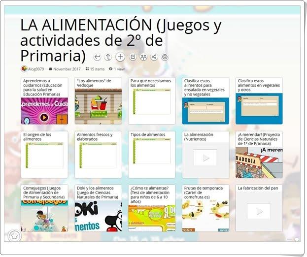 """""""16 Juegos y actividades para el estudio de LA ALIMENTACIÓN en 2º de Primaria"""""""