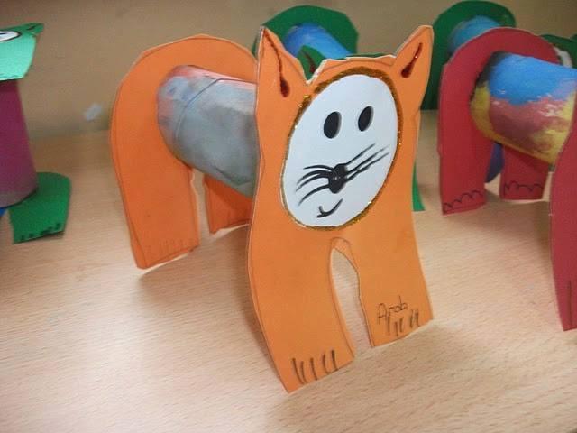 Ide membuat kerajinan berbentuk kucing menggunakan  kertas roll toilet untuk anak-anak