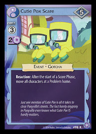 MLP Cutie Pox Scare The Crystal Games CCG Card