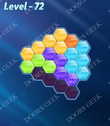 Block! Hexa Puzzle [Rainbow A] Level 72 Solution, Cheats, Walkthrough for android, iphone, ipad, ipod