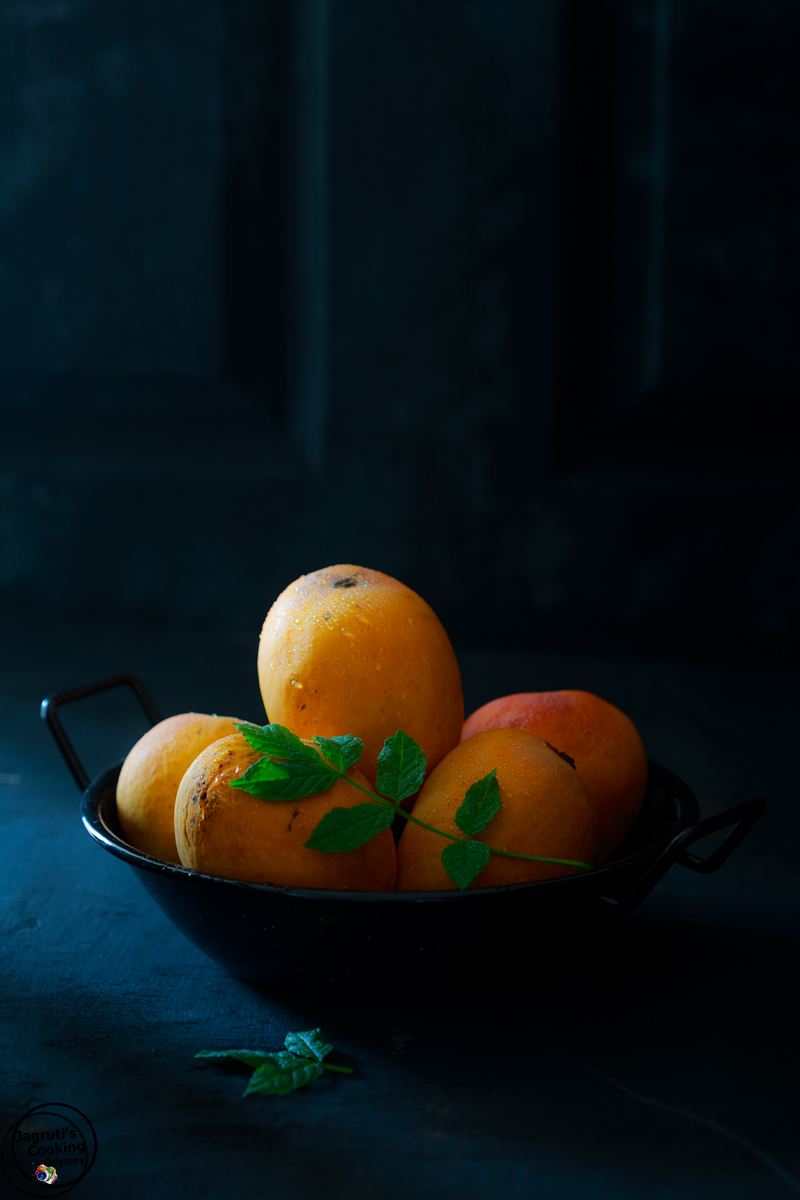 Indian Ratnagiri Alphonso-hapus mangoes