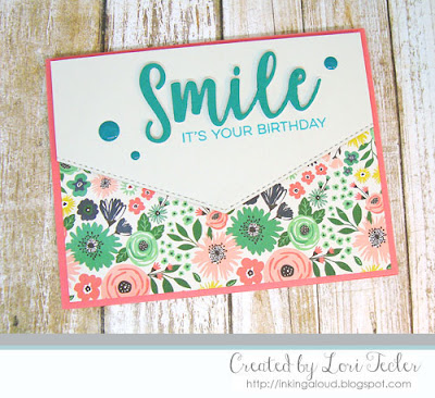 Smile It's Your Birthday card-designed by Lori Tecler/Inking Aloud-stamps and dies from My Favorite Things