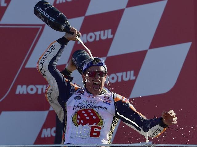 Klasemen Akhir MotoGP 2017: Marquez Bertakhta Lagi