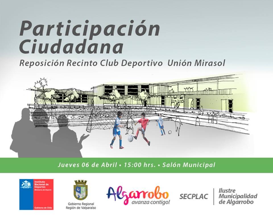 Algarrobo digital municipalidad de algarrobo convoca a - Proyecto club deportivo ...