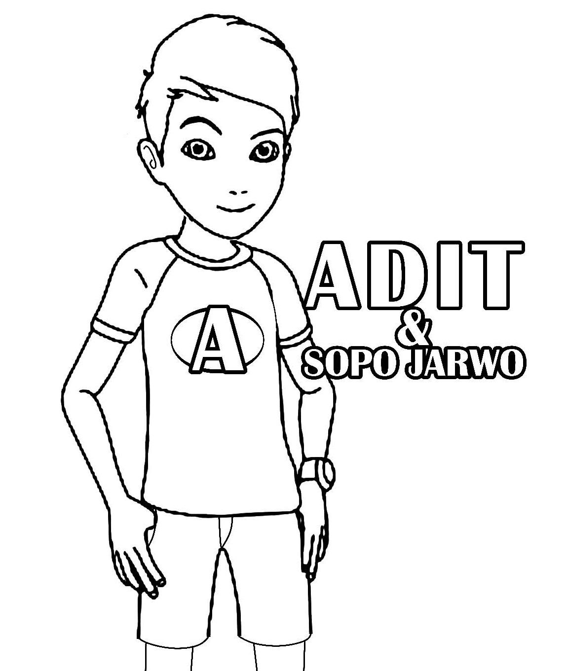 Karikaturku Indonesia Mewarnai Tokoh Adit