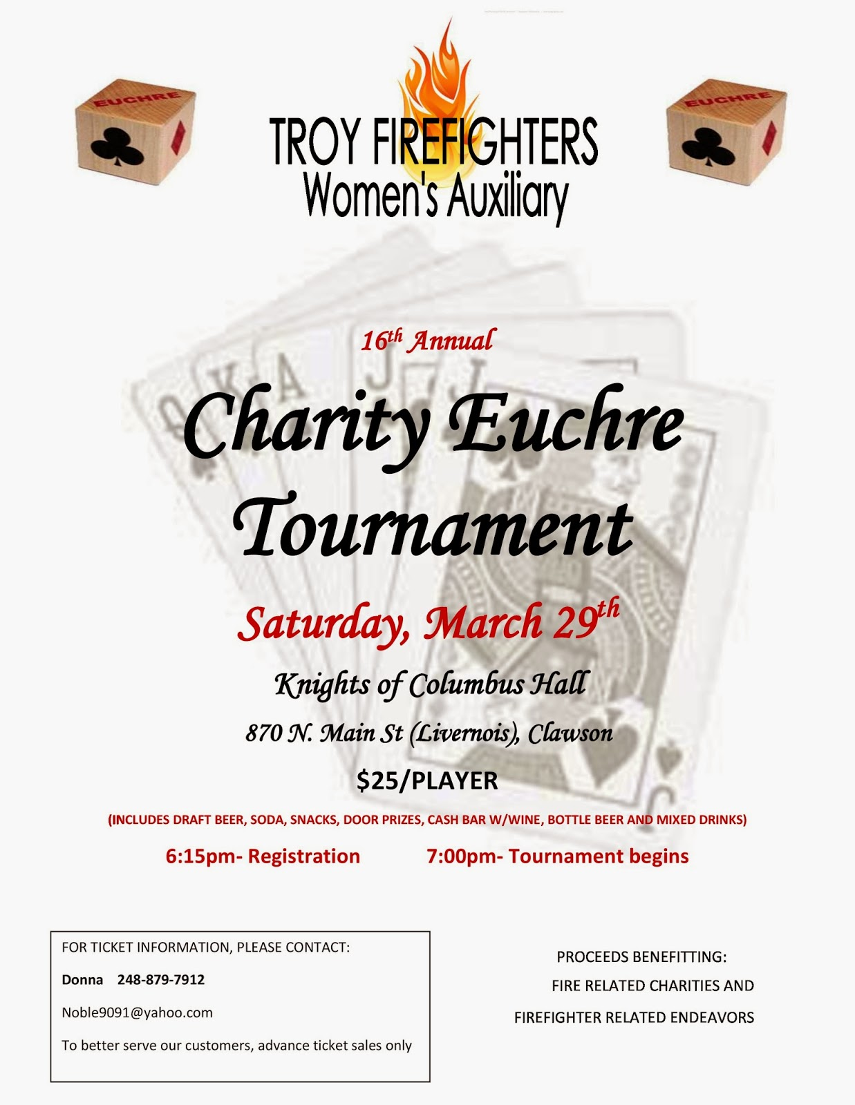 Charity Euchre Tournament Troy MI