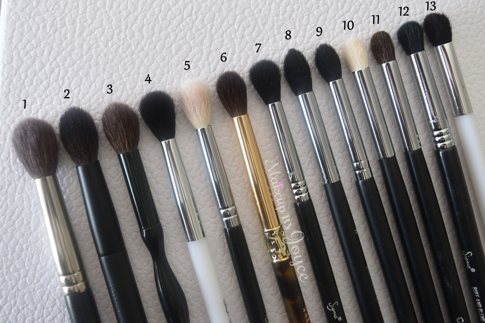 Makeupbyjoyce Review Tapered Crease Blending Brushes For The Eyes