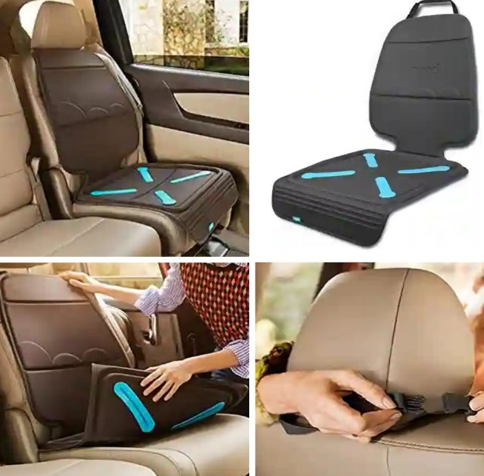 Munchkin Car Seat Cover with Adjustable Headrest Strap: Protects Vehicle Seats from Dirt, Stains and Spills - Brica Upholstery Protector