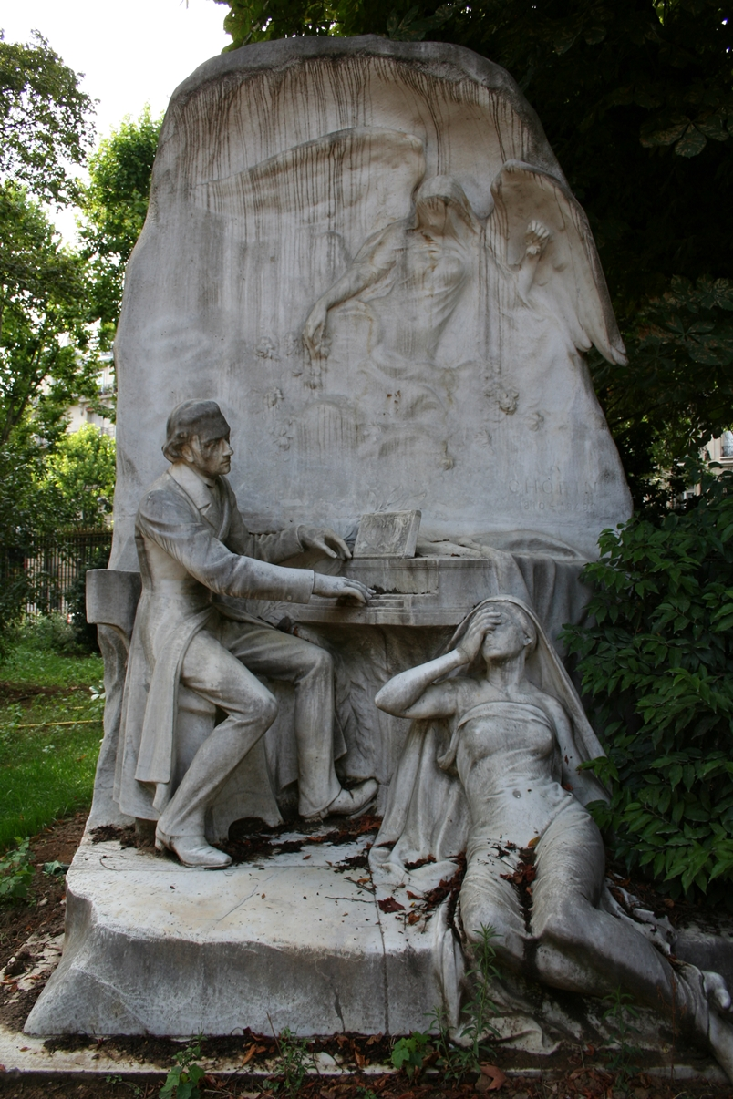 Frédéric Chopin, 1906 - Parc Monceau, Paris, France - Jacques Froment-Meurice (1864-1947)