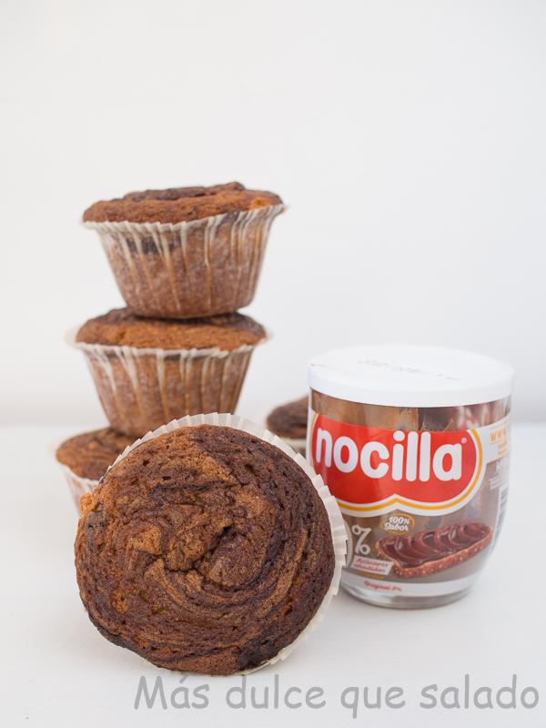 Muffins de Nocilla
