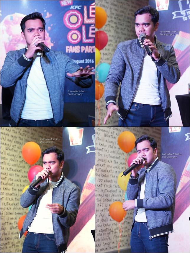 Singer & TV Host ~ Alif Satar Belting Out A Song