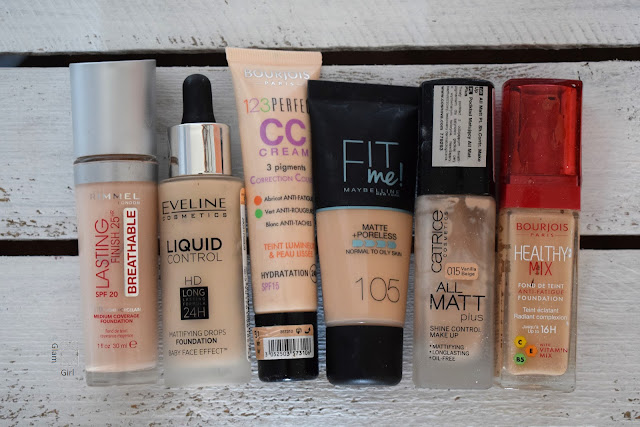 Przegląd kosmetyczki - podkłady