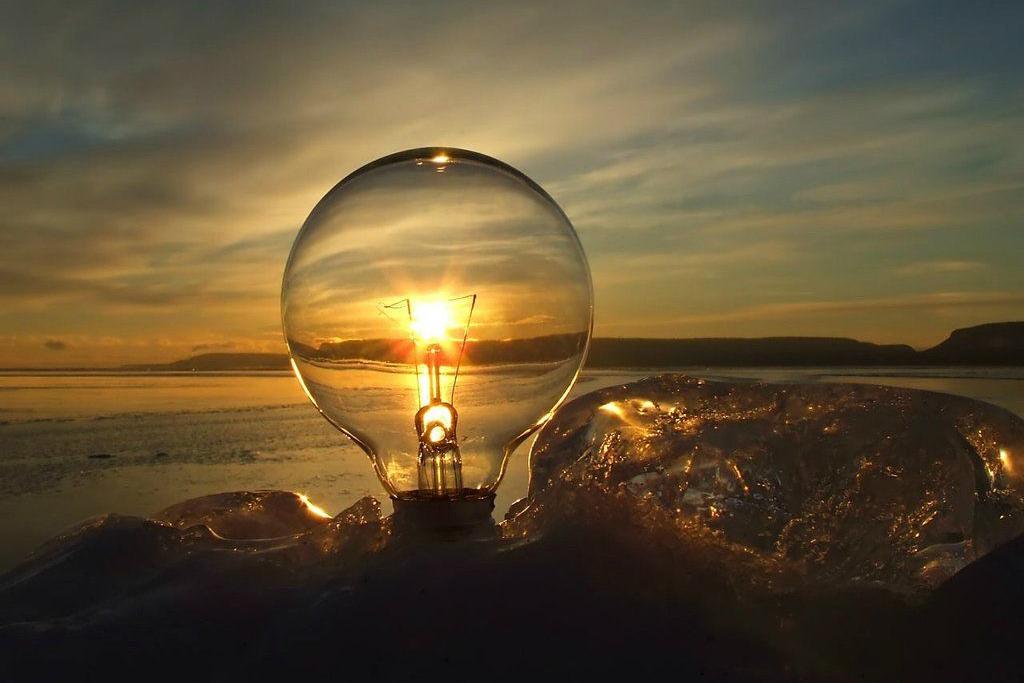 foto keren cahaya buatan dari lampu yang sangat keren