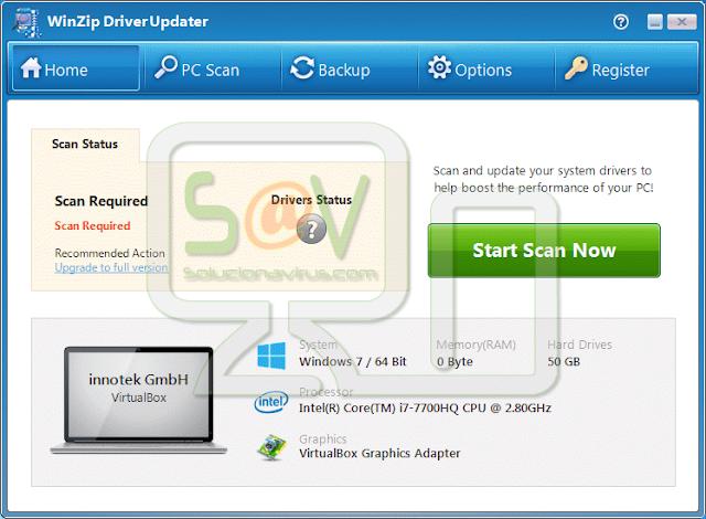 WinZip DriverUpdater (Falso optimizador)