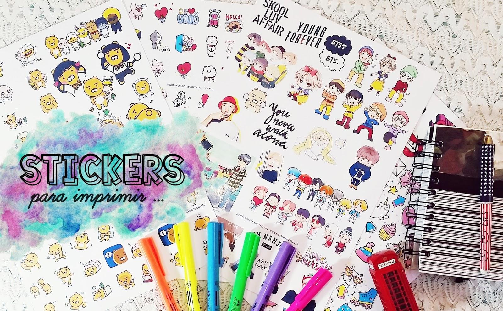 | Stickers | estilo asiáticos para imprimir
