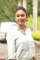 Rakul Preet Singh in Jeans and White Shirt At Jaya Janaki Nayaka le Logo Launch ~  Exclusive 030.JPG