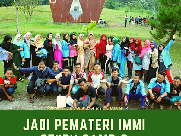 Jadi Pemateri di Study Camp-8 IMMI, Organisasi Kampus STIE IBMI