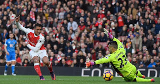 Alexis Sanchez Scores Bournemouth