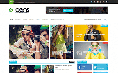 Dens Free Blogger Template
