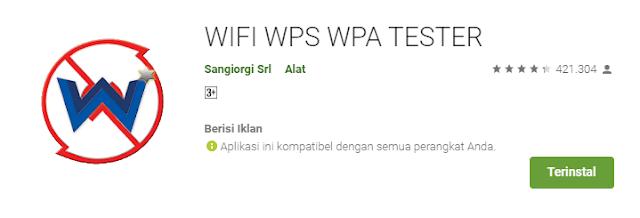 Download Aplikasi Wifi WPS WPA Tester Gratis Android Terbaru
